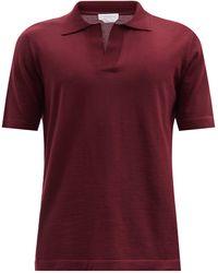 Gabriela Hearst Stendhal Cashmere Polo Shirt - Red