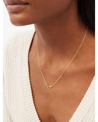 Lizzie Mandler May Birthstone Emerald & 18kt Gold Necklace - Metallic