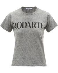 Rodarte T-shirt en jersey à imprimé logo - Gris