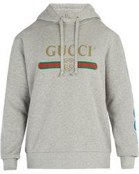 Gucci - Dragon And Logo Hooded Sweatshirt - Lyst
