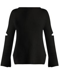 Stella McCartney - Boat-neck Ribbed-knit Wool Sweater - Lyst