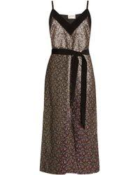 Maison Rabih Kayrouz | Floral-brocade Tie-waist Midi Dress | Lyst