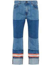 CALVIN KLEIN 205W39NYC Reflective Panel Cotton Jeans - Blue