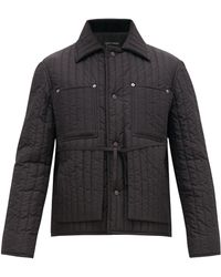 0a63ece51 Gucci Unskilled Worker Reversible Silk Bomber for Men - Lyst