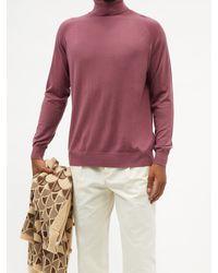 Nanushka Zade Roll-neck Merino-wool Jumper - Purple