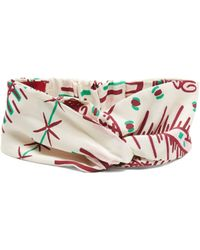 Valentino - Graphic Print Silk Headband - Lyst