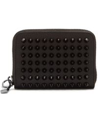 2318ba83e11 Panettone Spike Embellished Leather Wallet - Black