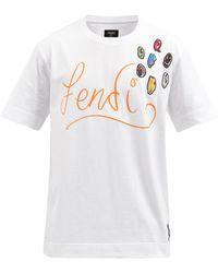 Fendi X Noel Fielding プリント コットンtシャツ - ホワイト