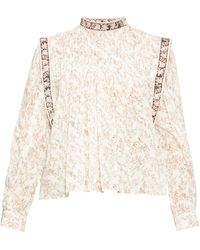 Étoile Isabel Marant Vega Floral-print Cotton Blouse - White