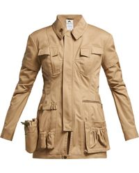 Marine Serre - Utility Pocket Cotton Jacket - Lyst