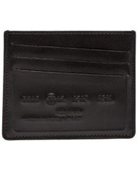 Maison Margiela - Logo Embossed Leather Cardholder - Lyst