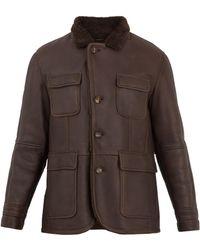 Brunello Cucinelli | Point-collar Shearling Jacket | Lyst