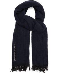 Isabel Marant アルフィ ウールスカーフ - ブルー