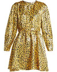 Diane von Furstenberg - Heyford Leopard-jacquard Silk-blend Mini Dress - Lyst