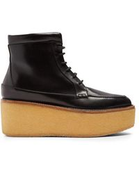 Gabriela Hearst - Terral Leather Flatform Ankle Boots - Lyst