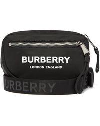Burberry Sac ceinture à imprimé logo - Noir