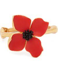 Oscar de la Renta - Bracelet à fleur peinte - Lyst