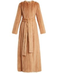 Brock Collection Freda Mink Fur Coat - Pink