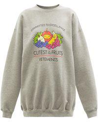 Vetements Cutest Of The Fruits スウェットシャツ - グレー