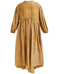 By Walid - Chantalle Mottled-effect Silk Shirtdress - Lyst
