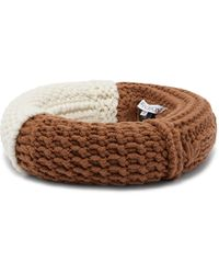 JW Anderson Knitted Wool-blend Headpiece - Brown