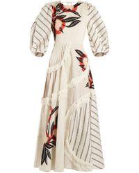 ROKSANDA - Kayine Floral Print Linen Blend Dress - Lyst