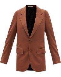 Umit Benan B+ Single-breasted Wool-twill Jacket - Brown