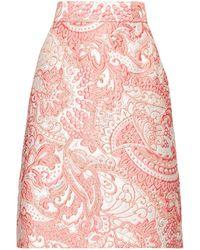 Dolce & Gabbana - A Line Floral Brocade Knee Length Skirt - Lyst
