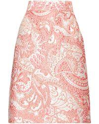 Dolce & Gabbana A-line Floral-brocade Knee-length Skirt - Pink
