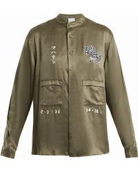 Maharishi - Tiger Embroidery Silk Shirt - Lyst