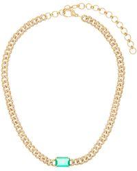 SHAY パヴェダイヤモンド&エメラルド 18kゴールドチョーカー - マルチカラー