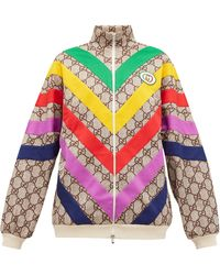 Gucci Technical Jersey GG Rainbow Track Jacket - Multicolor