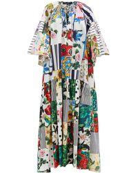 Dolce & Gabbana パッチワーク コットンポプリン マキシドレス - マルチカラー