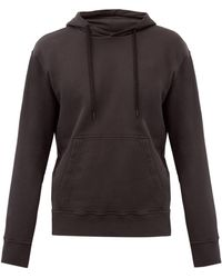 Folk Boxy Cotton-jersey Hooded Sweatshirt - Grey