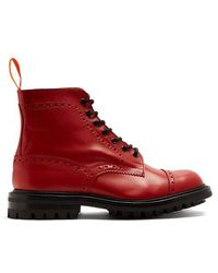 Junya Watanabe - X Trickers Leather Ankle Boots - Lyst