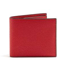 Valextra - Bi Fold Leather Wallet - Lyst
