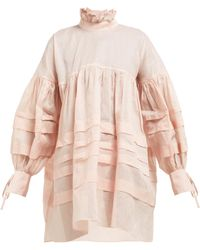 d9d2a131c7bf Cecile Bahnsen - Alberte Cotton Organdy Mini Dress - Lyst