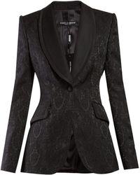 Dolce & Gabbana - Single Breasted Floral Jacquard Blazer - Lyst