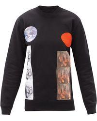 Raf Simons Aw14 コットン ロングスリーブtシャツ - ブラック