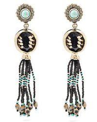 Etro Crystal-embellished paisley motif earrings ttRU4Qo