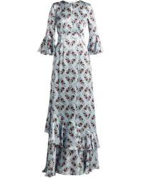 Erdem - Robe de soirée en soie à imprimé Keiko Venice - Lyst