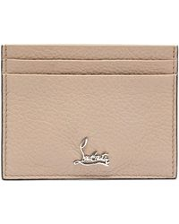 Christian Louboutin Kios Logo Leather Cardholder - White