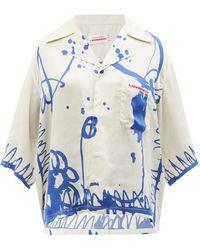 Charles Jeffrey LOVERBOY エイウォル ツイルボウリングシャツ - ブルー
