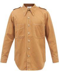 Wales Bonner イザック コットンブレンドツイルシャツ - マルチカラー