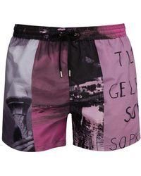 Paul Smith Beach Scene Print Swim Shorts - Pink