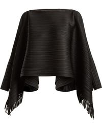 Pleats Please Issey Miyake | Fringed Pleated Top | Lyst