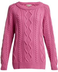 Queene And Belle - Clara Cable Knit Cashmere Sweater - Lyst