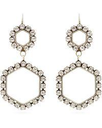 Isabel Marant Boucles d'oreilles à ornements cristaux - Métallisé