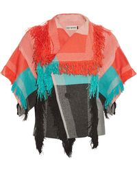 Issey Miyake - Parrot Fringed Cotton-Blend Jacket - Lyst