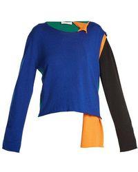 JW Anderson - Asymmetric Colour-block Sweater - Lyst